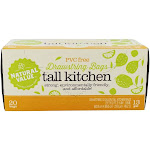 Natural Value Tall Kitchen 13 Gallon Drawstring Plastic Bags 20 Bags
