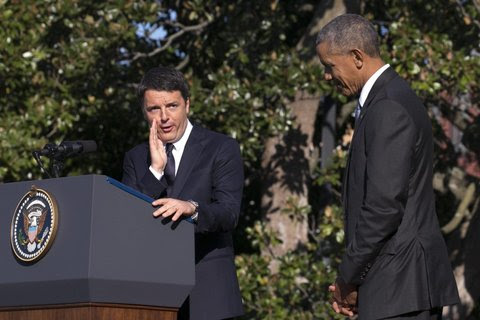 Risultati immagini per renzi obama