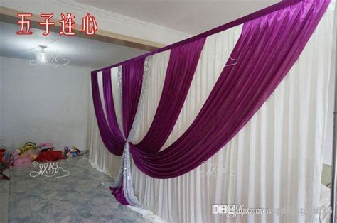 Wedding Drape & Pipe Set Wedding Curtain With Valance