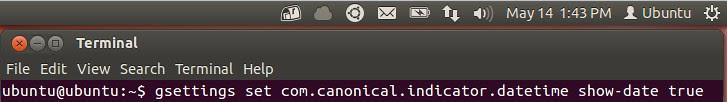ubuntu show date