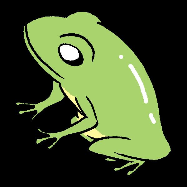 横向きカエルのイラスト かわいいフリー素材が無料のイラストレイン
