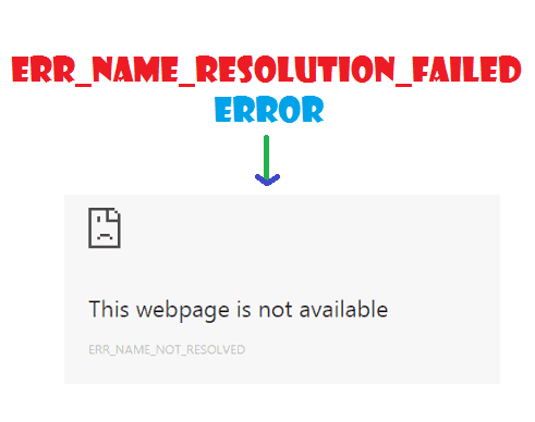Permanently fix ERR_NAME_RESOLUTION_FAILED error - Mindxmaster