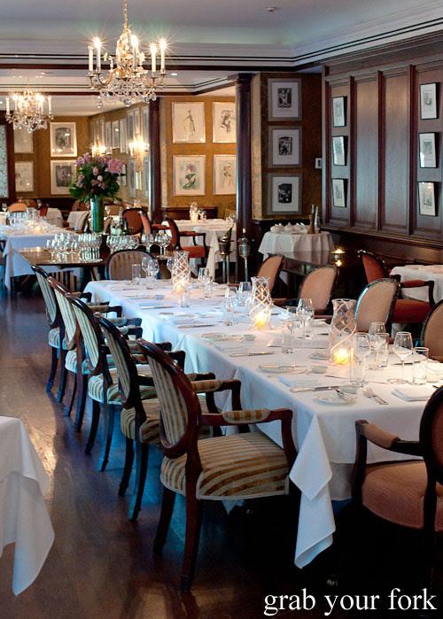 dining room at the langham galileo restaurant sydney