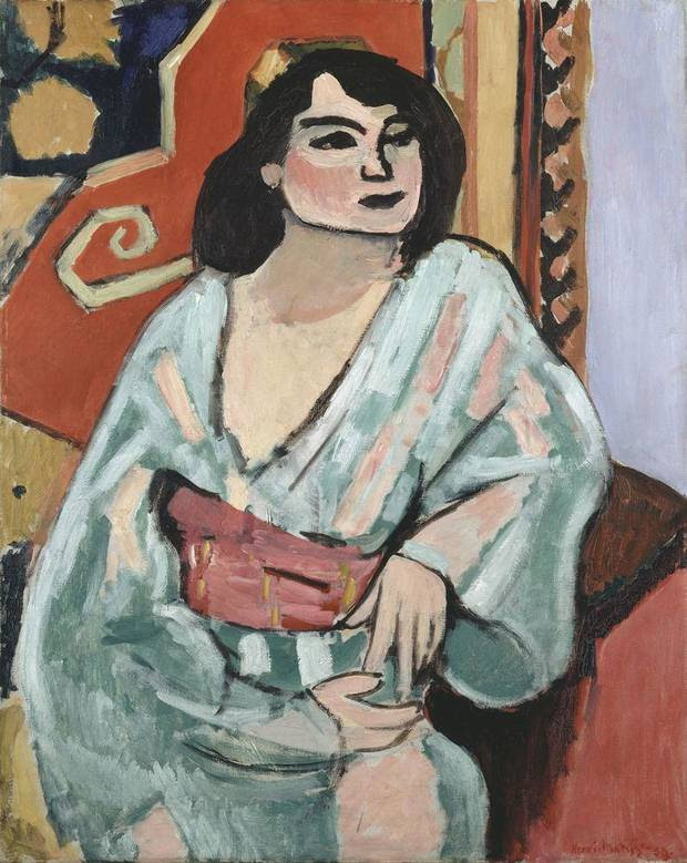 """Henri Matisse's 1919 oil painting """"L'Algérienne (Algerian Woman)"""" will be featured in the exhibition """"Matisse in His Time: Masterworks of Modernism from the Centre Pompidou, Paris,"""" opening in 2016 at the Oklahoma City Museum of Art.  Image provided by Centre Pompidou, Paris"""