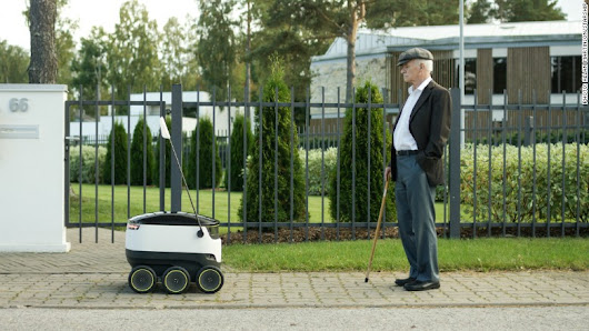 Forget drones, here come delivery robots