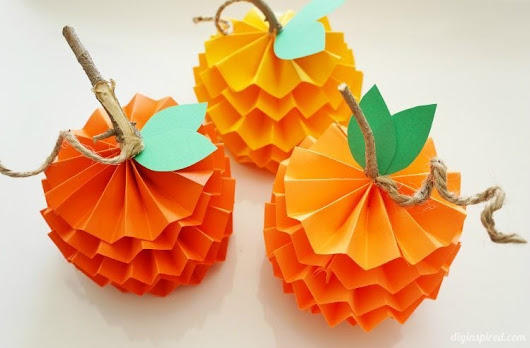 How to Make Paper Pumpkins for Fall - DIY Inspired