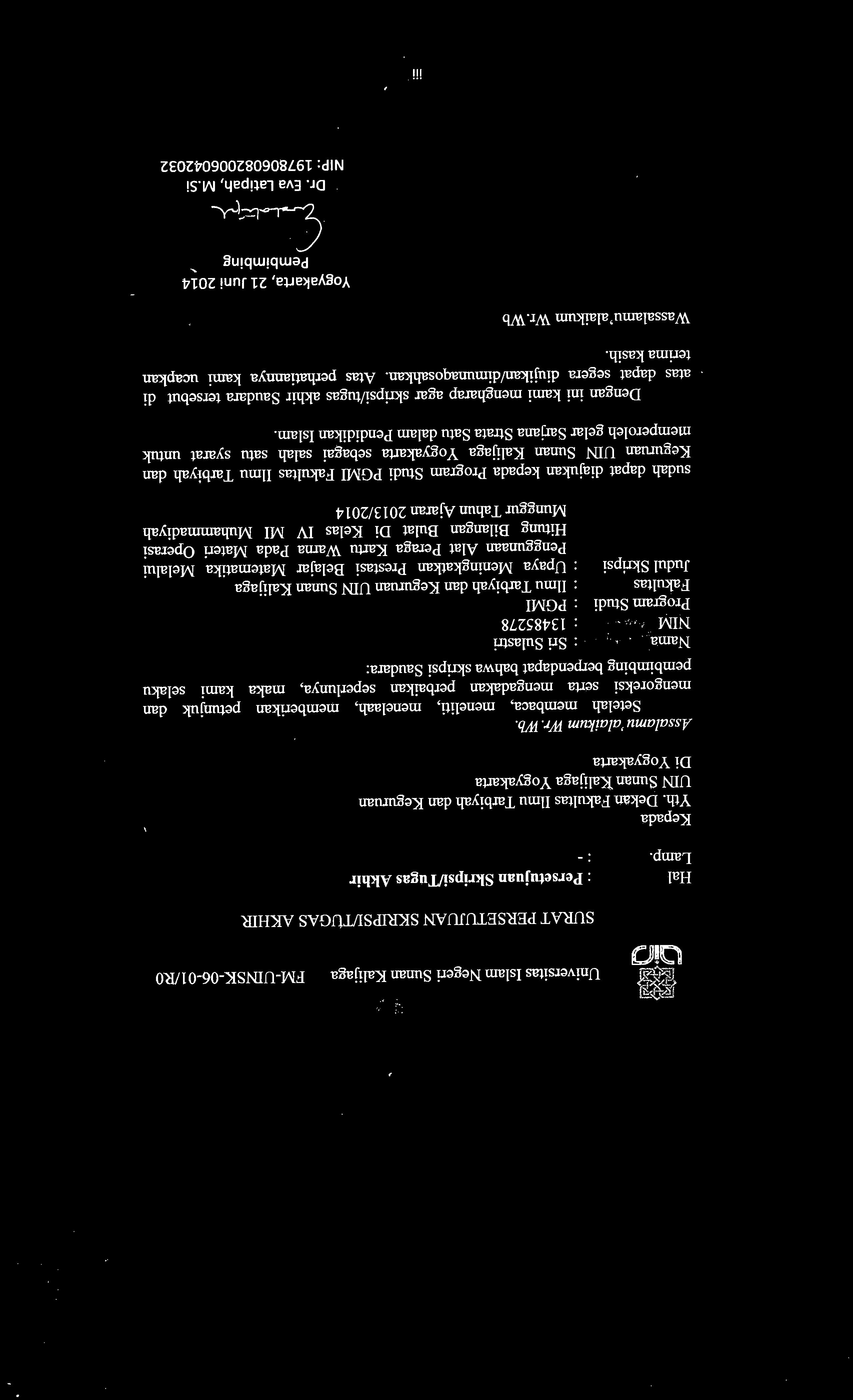 Bimbel Masuk Uin Sunan Kalijaga Yogyakarta Prodi Jurusan Uin