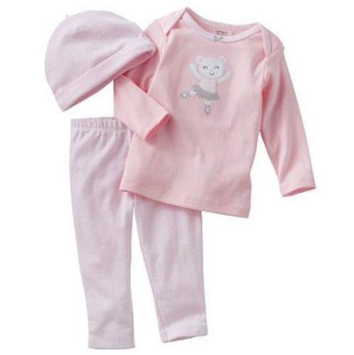 CARTER/'S PREEMIE BABY GIRL PINK SLEEP N PLAY OUTFIT REBORN Size P Ships N 24h