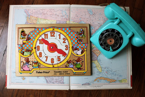 Vintage Wooden Clock Puzzle