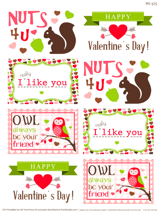 valentines day label templates | Worldlabel Blog