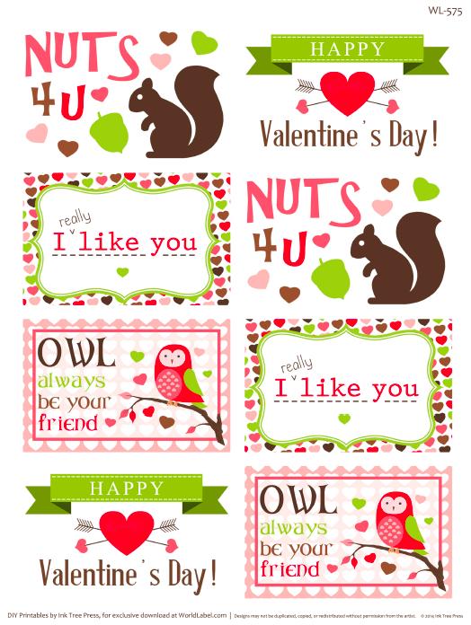 valentines day label templates | Worldlabel Blog