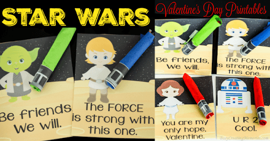 Valentine's Day Star Wars Printables and Lightsaber Candy handouts