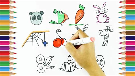 draw  numbers   learn drawing  kids