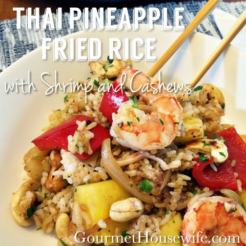 Thai Pineapple Fried Rice with Shrimp and Cashews