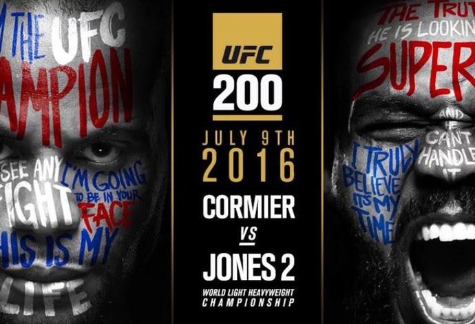 Cartaz oficial Jon Jones x Daniel Cormier UFC 200 (Foto: Reprodução)