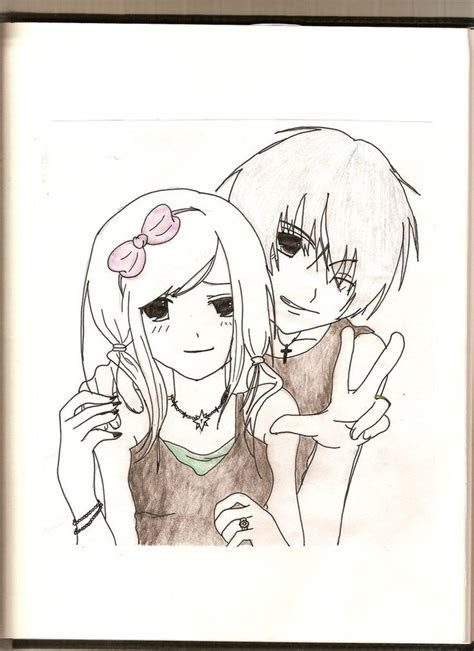 cute anime emo couples drawings images pictures becuo