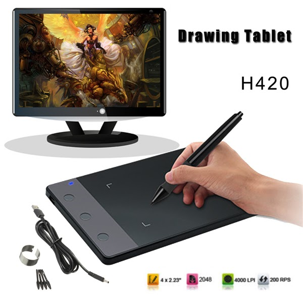 Sale-LEORY 1pcs 5V 10 Inches USB Art Design Graphics Drawing Tablet Digital Tablet Art Drawing Board with Digital Drawing Pen Best Price