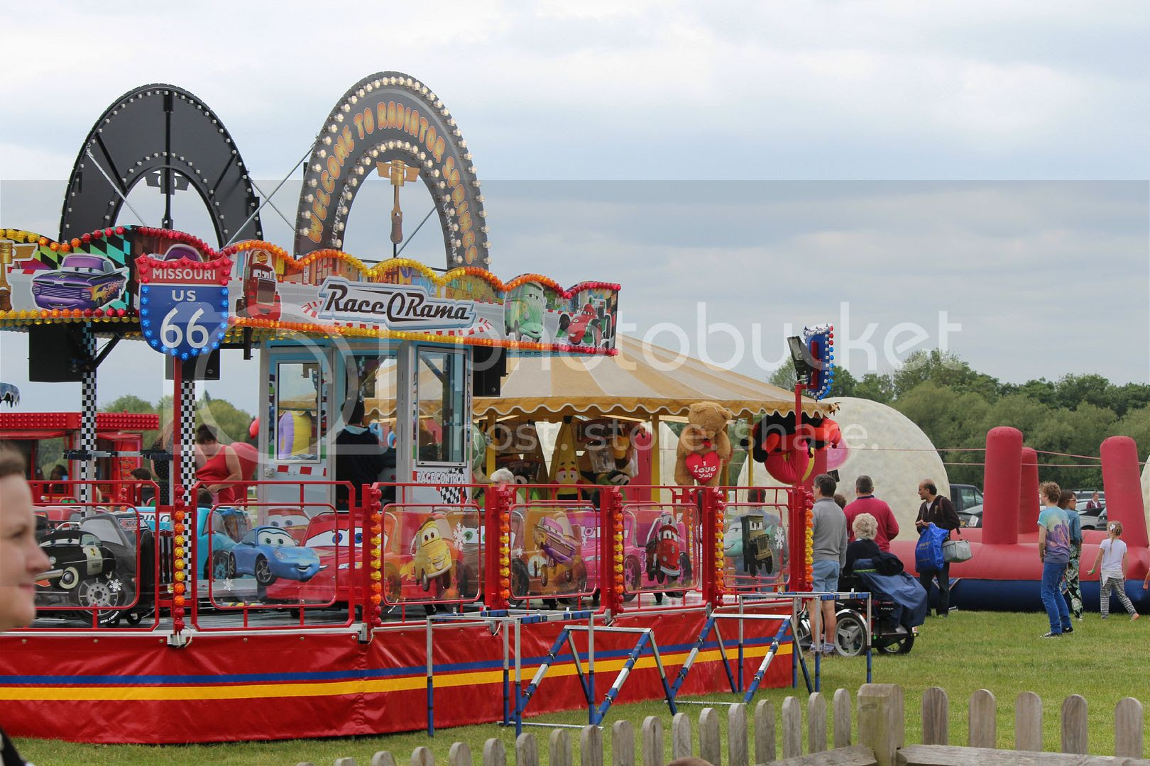 fairground at Windsor Race Day