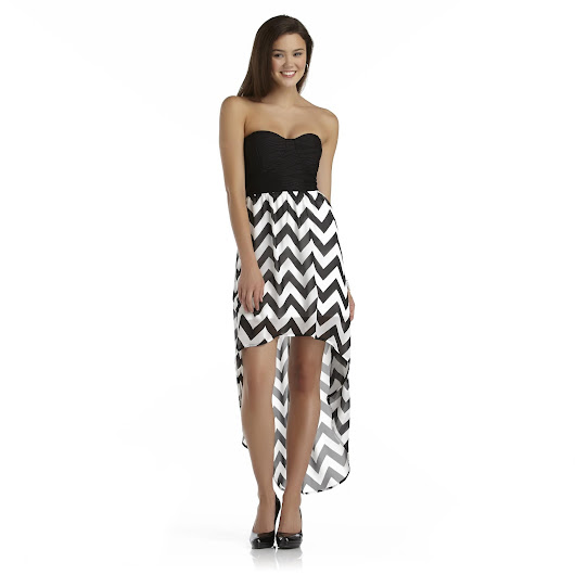 Cheap Homecoming Dress: Chevron Homecoming Dress - Prom Belles