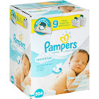 Pampers Sensitive Baby Wipes - 9 pack, 56 wipes each