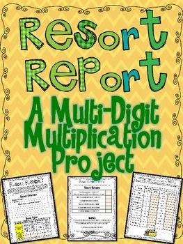 Multi Digit Multiplication Project for the Common Core