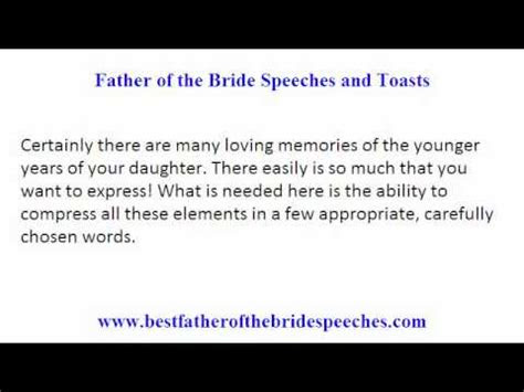 father   bride wedding toasts smart tips  writing