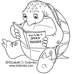 Dulemba Coloring Page Tuesday Speed Reading Turtle