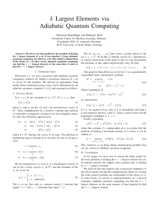 k Largest Elements via Adiabatic Quantum... (PDF Download Available)