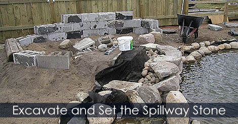How to Build a Waterfall for a Pond | Steps Instructions with Pictures