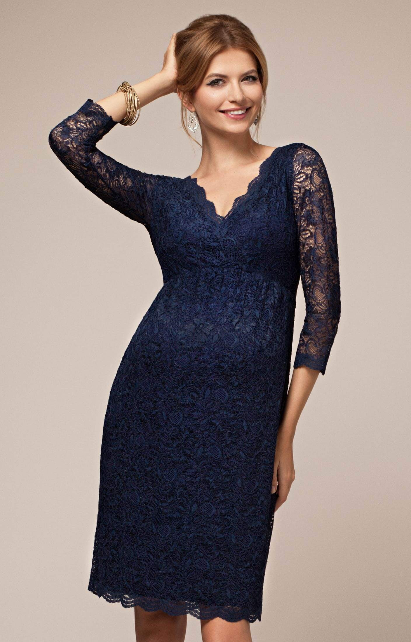 Blue maternity evening dresses