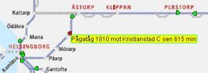 Försenat tåg Skånetrafiken