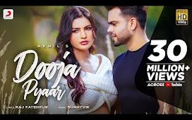Dooja Pyaar Punjabi Song Lyrics - Akhil