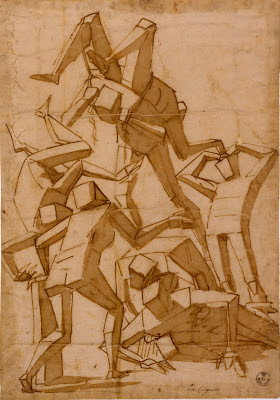 Luca Cambiaso 16th century surreal drawing