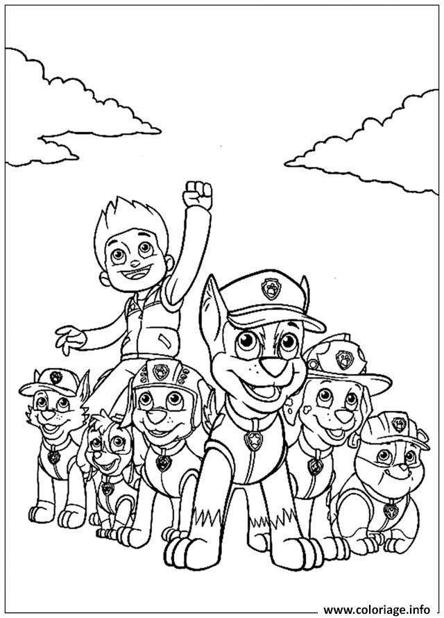 Coloriage Pat Patrouille Mission Acomplie Jecoloriecom