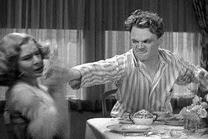 """The """"grapefruit scene"""". Cagney shove..."""
