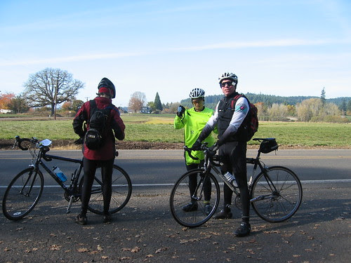 Diane, Amy, and Jason at the corner of Mountaindale