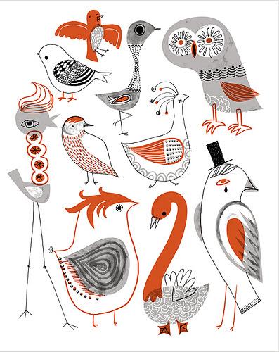 Sarah Anderson Kooky Birds