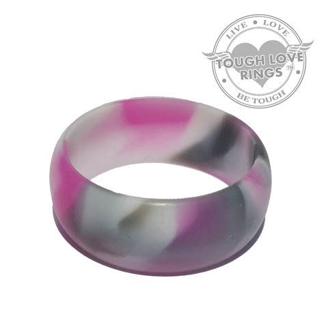 Camo PINK Silicone Ring (Wide band, 8.7mm)   Tough Love Rings