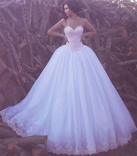 Ball Gown Wedding Dresses Sweetheart Floor length Lace Big