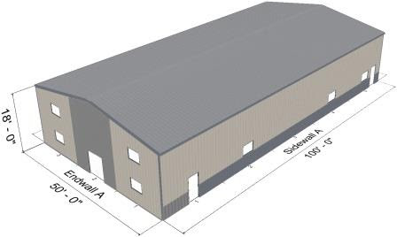 50 x 100 x 18 Metal Building for Sale in Minnesota