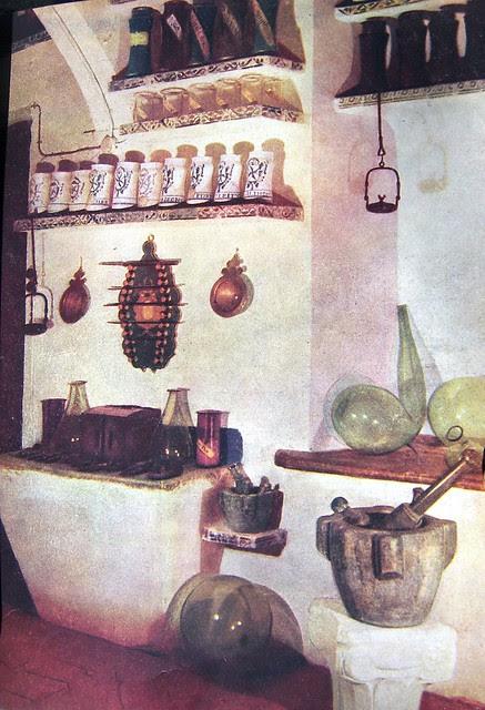 Botica del Hospital Tavera hacia 1947. Revista Arte Hogar