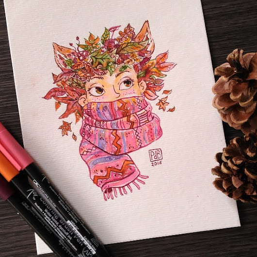 Original  Autumn is coming por PatrideBlas en Etsy