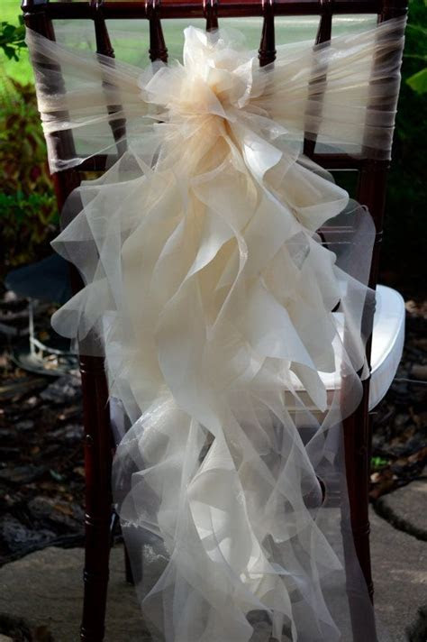 Set of 20 Custom Chair Sash Curly Willow by