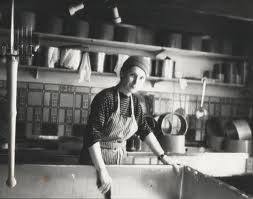 Early Image of Veronica Making Cheese