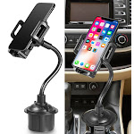 Car Phone Mount, Nakedcellphone Cup Holder Adjustable/Universal Apple iPhone XS XS Max XR X 8 8+ 7 Plus 6s 6 5s SE, etc