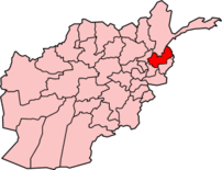 Map of Afghanistan with Nuristan  نورستان high...