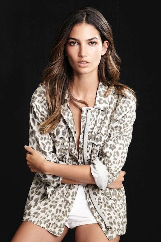 Le Fashion Blog Model Lily Aldridge for Velvet by Graham Spencer Collection Lookbook Aziya Leopard Print Army Jacket Wavy Highlighted Hair Natural Beauty 4 photo Le-Fashion-Blog-Lily-Aldridge-for-Velvet-by-Graham-Spencer-Collection-Lookbook-Aziya-Leopard-Jacket-4.jpg
