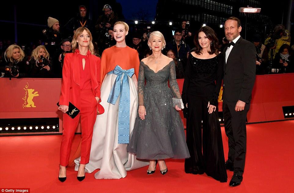 Group shot: (L-R)Heike Makatsch, Elle Fanning, Helen Mirren, Iris Berben and Wotan Wilke Moehring