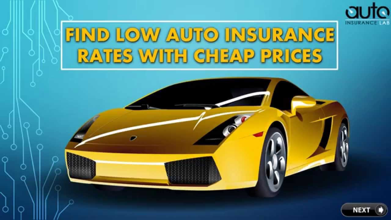 low rate auto insurance