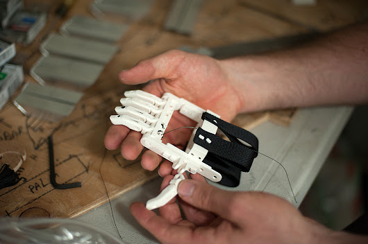 3-D Printer Brings Dexterity To Children With No Fingers : NPR
